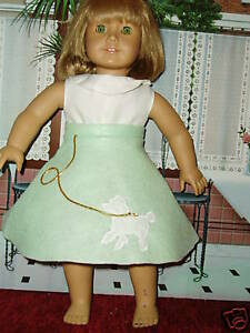 Mint Green POODLE SKIRT 18 in Doll Clothes Fits American Girl