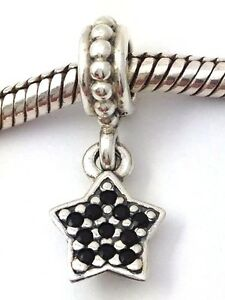 3e5aac7e3 Image is loading Authentic-Pandora-Sterling-Silver-Pave-Star-Black-Crystal-