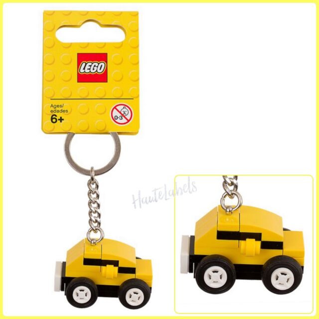 LEGO 3966 Exclusives Tiger Decorated Brick with Yellow Plate Key Chain NEW