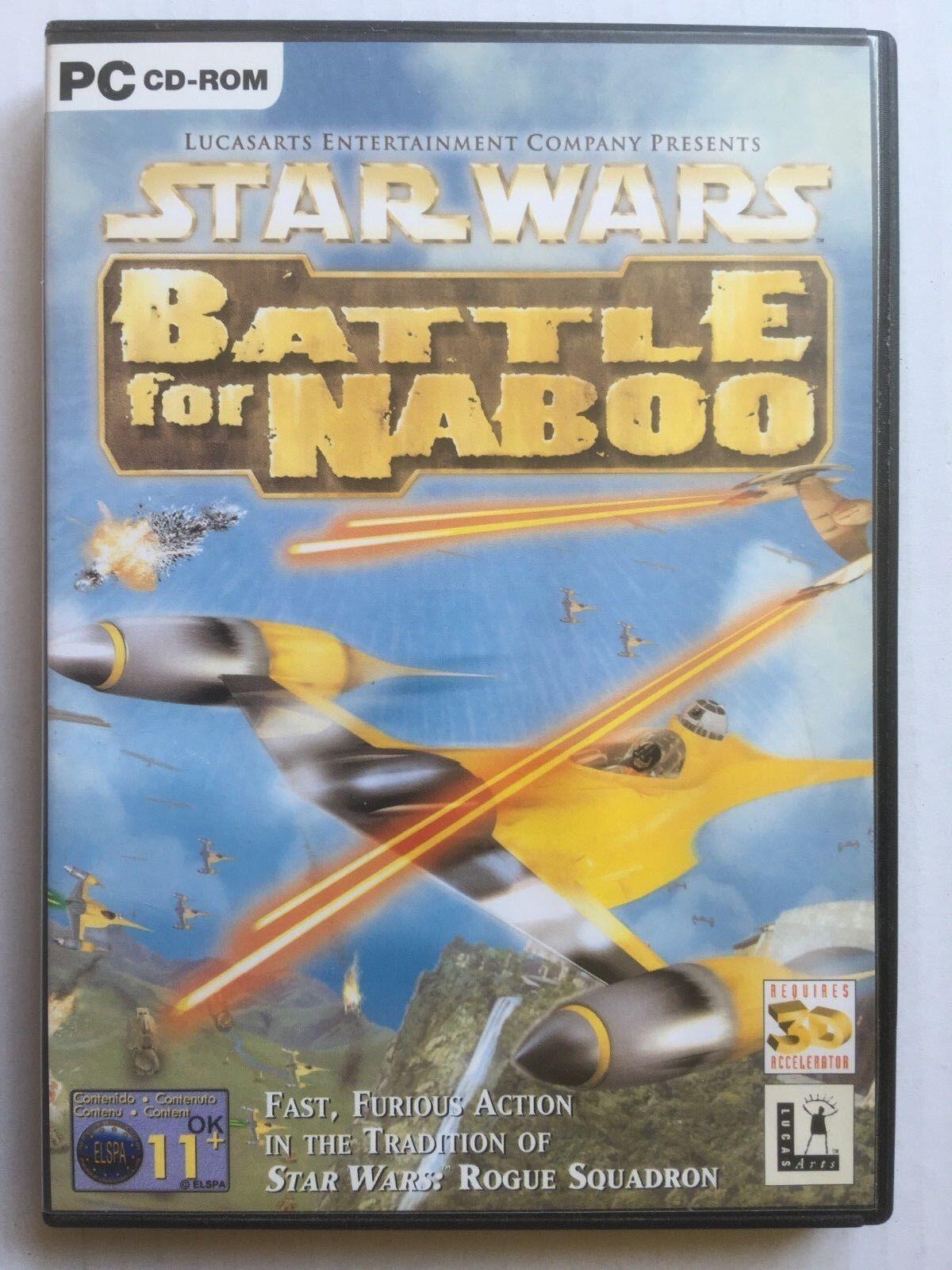 PC CD ROM - STAR WARS - BATTLE FOR NABOO - pas cher StarWars