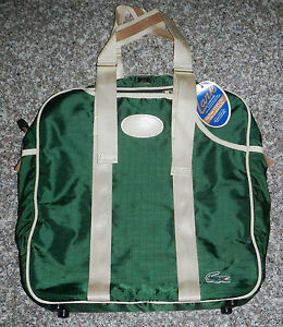 Vintage NWT Lark Luggage Izod Lacoste Green Canvas Racquetball Gym ...