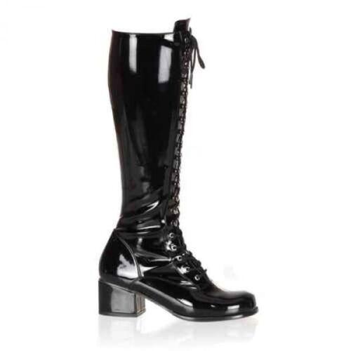 Retro-302 Funtasma Damen Stiefel Stretch Lack Lederlook mit Schnürung Gr 36-45