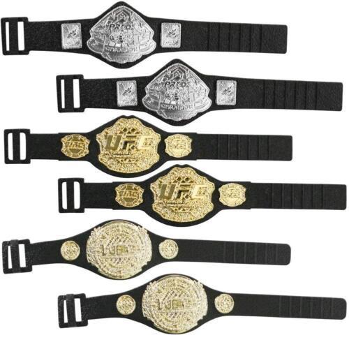 Set of 6 UFC Championship Action Figure Belts by Jakks