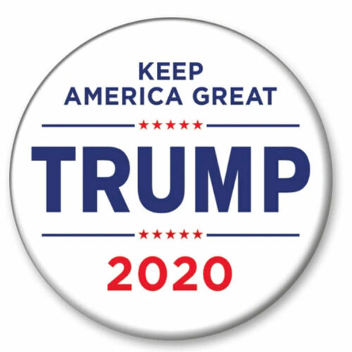 Donald Trump 2020 Keep America Great White 2.25 Inch President Button Pin
