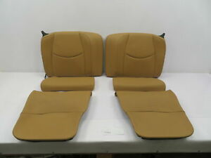 07-09 Porsche 911 Turbo 997 #1086 Convertible Rear Leather Sand Beige Seats