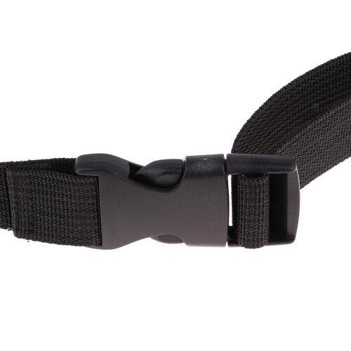 schwarzer Cross Bag Riemenverschluss für Gepäckbandriemen Verstellbarer