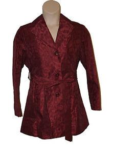 Bnwt jas 16 dames maat 3 4 in per Una Mac s door M rood lengte 7r7qT5p
