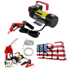 12v Electric Diesel Oil And Fuel Transfer Auto Extractor Pump With Nozzle Amp Hose A