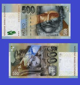 Reproduction UNC Slovakia 500 korun 2006