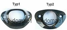 carbon Schalldämpfer Hitzeschutz Honda CBR600RR PC37 Auspuff Verkleidung Blende