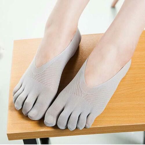 Five Toe Sock Slippers Invisibility For Solid Color Socks Five Finger Socks