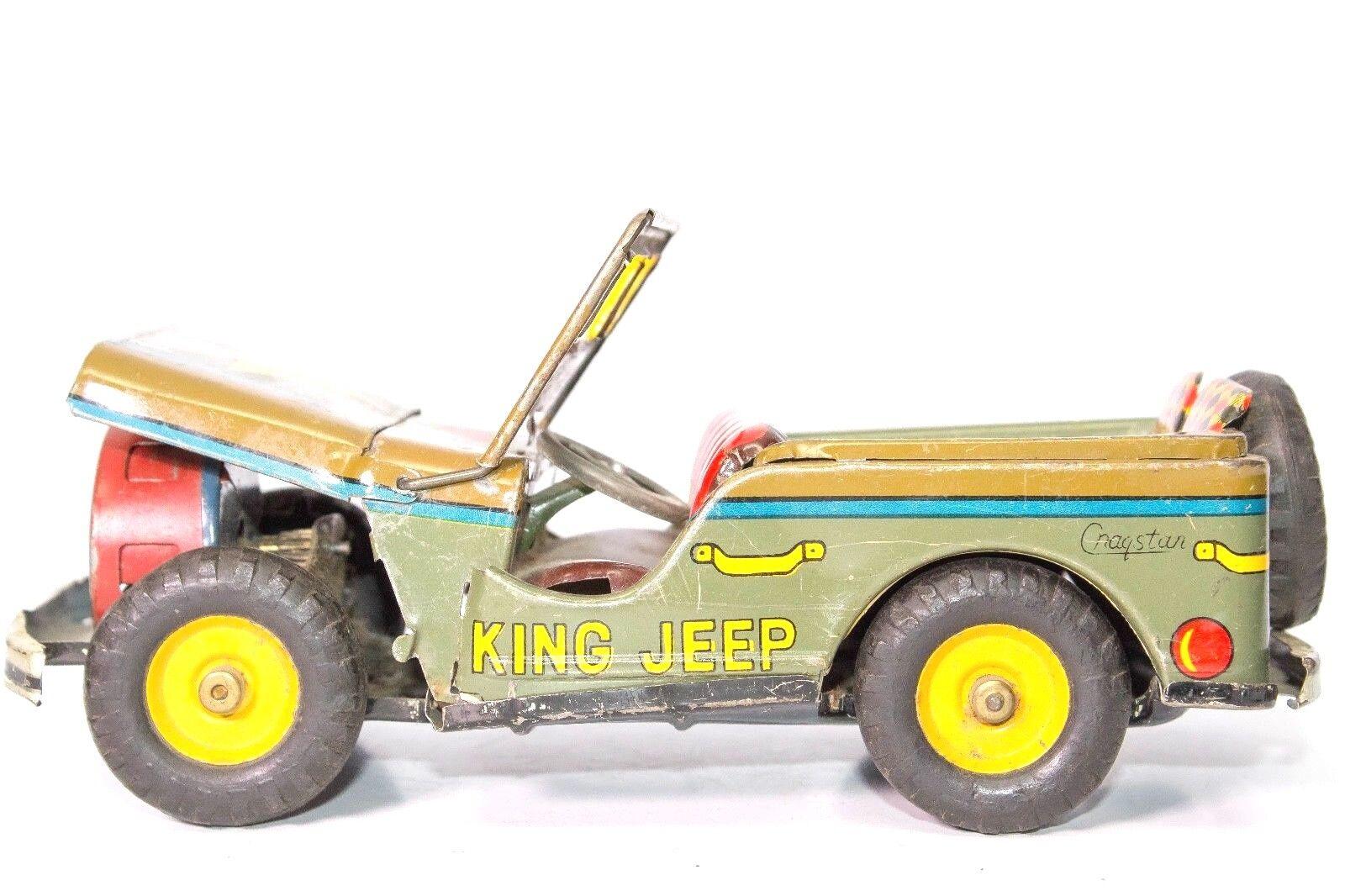 Vintage 594mS King Jeep M38 2-door Blech Friction von Cragstan Japan