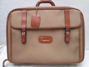 270b17be67 AUTHENTIQUE sac de voyage/week-end LANCEL toile/cuir TBEG vintage ...