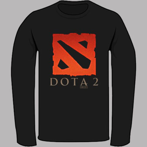 New Dota 2 Multiplayer Game Black Long Sleeve T-Shirt Size S-3XL