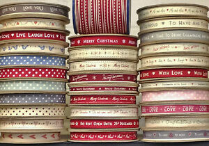 NEW-EAST-OF-INDIA-LARGE-SELECTION-OF-RIBBON-1-amp-3-METRES-CHOICE-50-RIBBONS