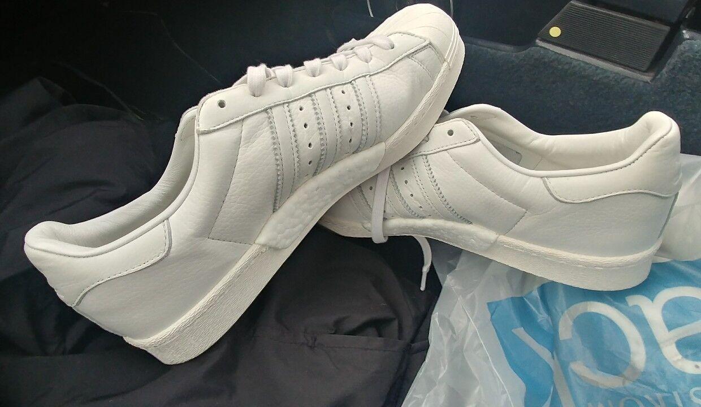 DS Adidas Superstar Boost Sz 11 100% Authentic Originals Vintage White BB0187
