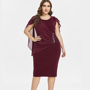última tecnología gran descuento de 2019 buscar el más nuevo Details about Vestidos De Fiesta de Noche Cortos Tallas Grandes Elegantes  XL XXL Plus Size