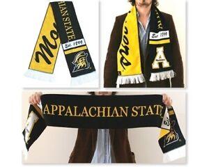 MüHsam Tradition Scarves App State Schal Appalachian State Mountaineers Schwarz Gelb Hochwertige Materialien