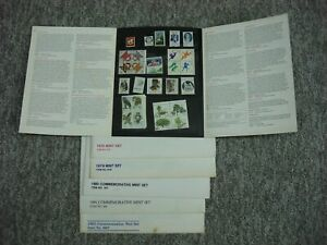 5 - USPS MINT SETS (ALL UNUSED STAMPS) 1978, 79, 80, 81 & 83 *GREAT GROUP*