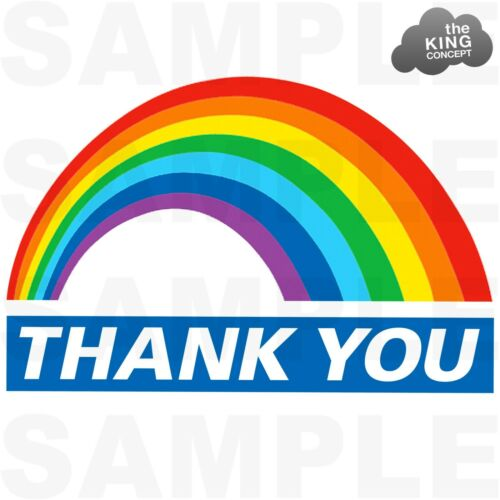 Thank you NHS Rainbow Iron On T-Shirt Transfer Stay Home Save Lives Safe Logo !!