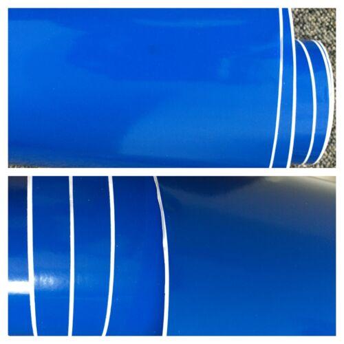 """Bleu Brillant Vinyle Wrap Feuille Voiture Emballage /""""bulle d/'air libre/"""" Vinyle Voiture Enveloppe UK"""