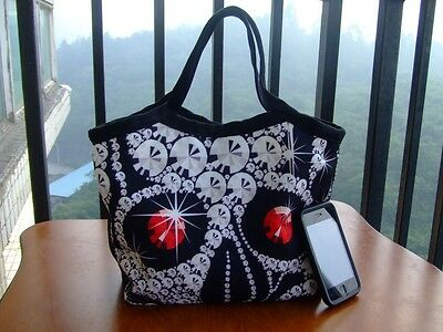 NEW DIAMOND SKULL CANVAS WOMEN'S HANDBAG BAG PURSE LUNCH TOTE BAG FOR GIRL KIDS