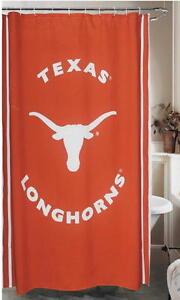 New-TEXAS-LONGHORNS-UT-Burnt-Orange-Fabric-Shower-Curtain-BV