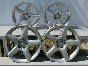 Set Of 4 Factory Mercedes E Class E350 E500 E550 Amg Rims Staggered 18 Genuine Ebay