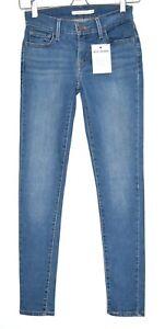 Damen-Levis-SUPER-SKINNY-710-Mid-Rise-blau-Stretch-Jeans-Gr-6-w25-l30