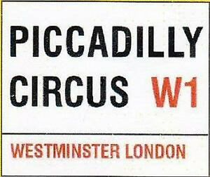 London England Panneau M/étallique Plaque M/étallique Plaque Vo/ût/é Signe en /Étain M/étal 20 X 30 Cm