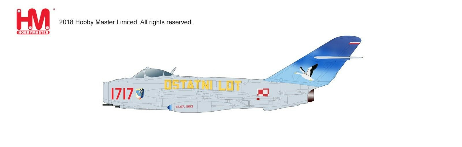 Hobby - meister ha5905, lim-5 (mig-17f), 1717, 45. experimentelle luftfahrt - staffel