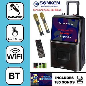 SONKEN MAX PORTABLE KARAOKE SYSTEM + 180 KARAOKE POPULAR SONGS FROM 2020/2021