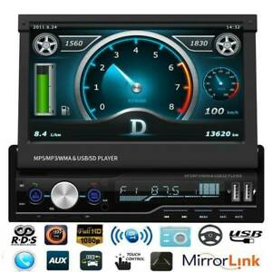 HD-7-034-Single-1Din-Car-Stereo-MP5-Player-RDS-FM-AM-Radio-AUX-Bluetooth-Head-Units