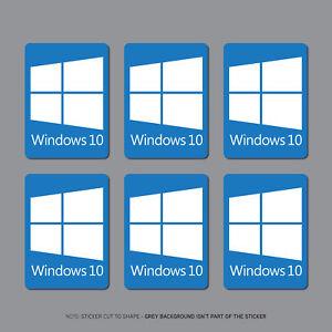 Details About 6 X Windows 10 Sticker Decal Pc Laptop Notebook 22mm X 16mm Sku2691