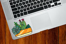 "CLR:TP - Potted Succulents Cactus - Vinyl Laptop Decal ©YYDC (SM 3.7""w x 3"