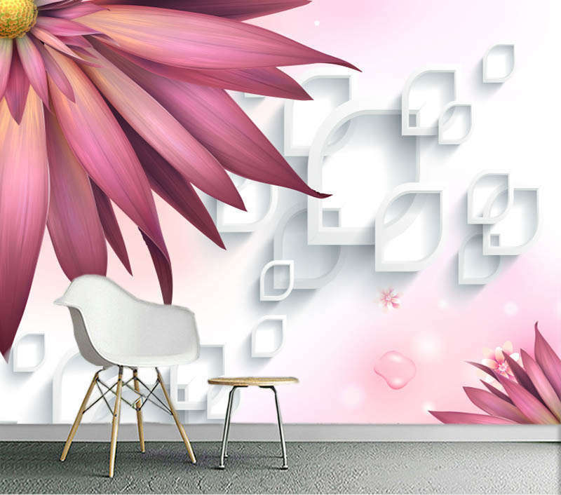 Powerful Water Drop 3D Full Wall Mural Photo Wallpaper Printing Home Kids Decor