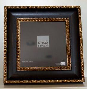 8 X 8 Roma Vintage Cocoa Easel Back Photo Frame Ebay