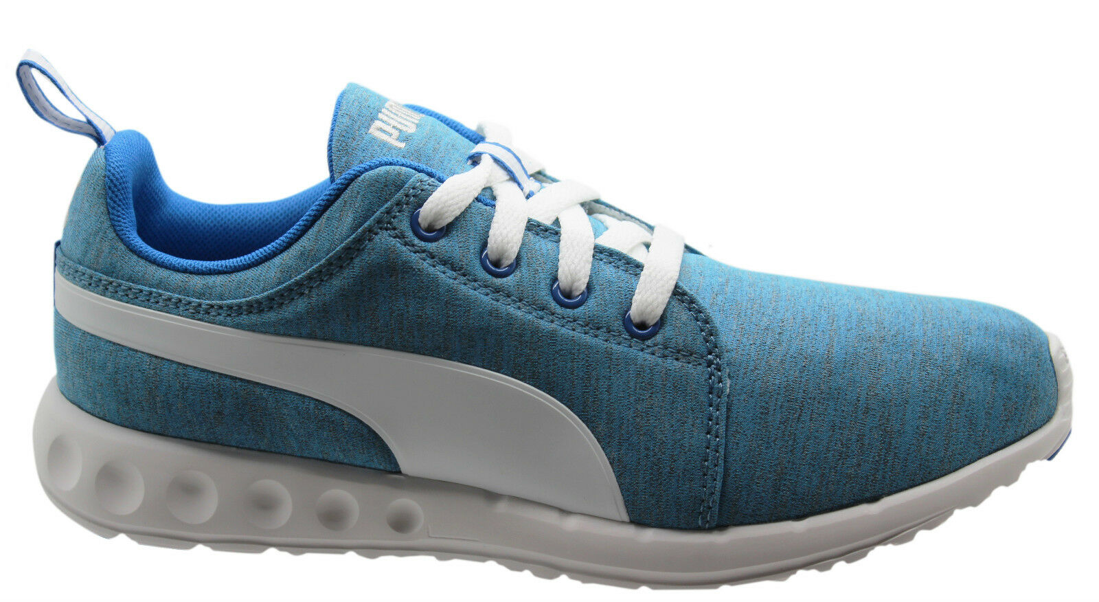 Puma Carson Runner Heather Mens Trainers Running Shoes Blue Lace ... c6cb4549c