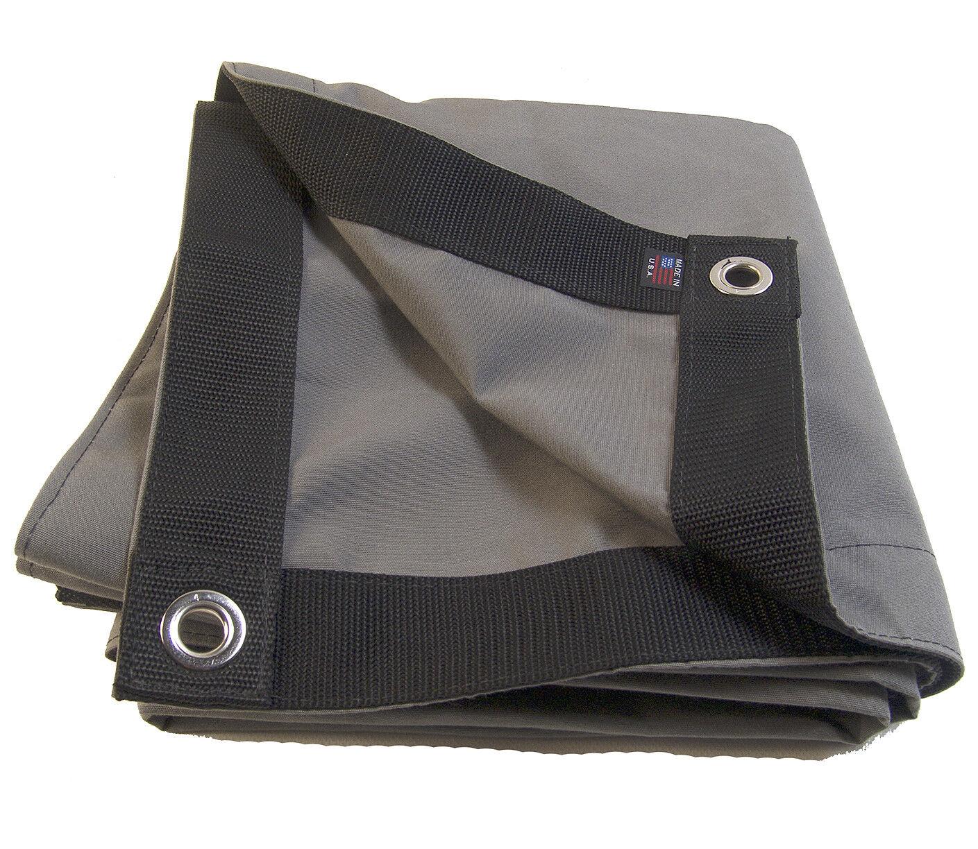Sunbrella Lona, gris carbón   6044 con  4 Ojales, 9 16  laminado borde Espuela