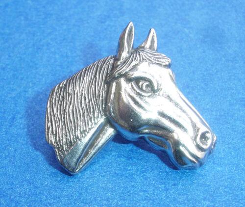 "Western Equestrian Tack Antique Silver Horsehead 1 1//8/"" Concho"