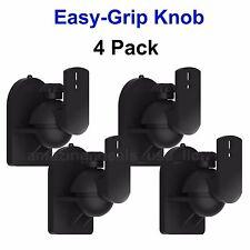 Universal Bose Jewel Cube Speaker Wall Mount Bracket Black - (4 Pack) Easy Grip
