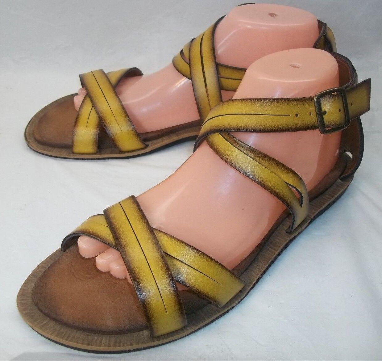 Clarks Wos Zapatos Sandalias Us 9 M Amarillo Amarillo Amarillo vegano y Correa en el Tobillo de Cuero Puntera Abierta 929  barato y de alta calidad