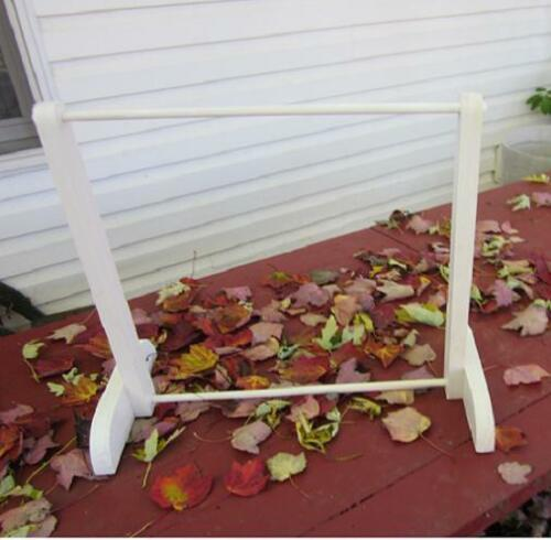 """SOLID WOOD 8/"""" 10/"""" DOLL CLOTHES RACK WHITE WASH PICKLING STAIN"""