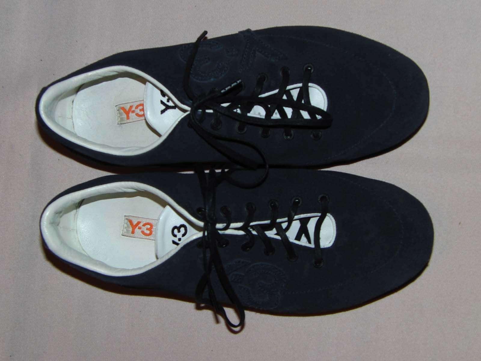 Y3 7,5 Yohji Yamamoto Sneaker US 7,5 Y3 UK 7 FR 40 2/3 DE 40 tiefblau-anthrazit TOP bbe5aa