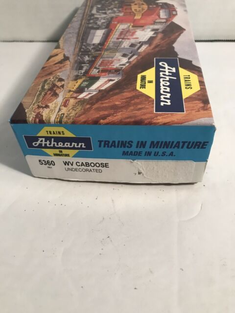 Athearn #5360 HO Scale Undecorated Wide Vision Caboose Car Kit Unassembled NIB