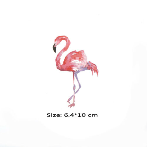 Flamingo Patches For Clothes Iron On Transfers Patch Washable Clothes Stickers,