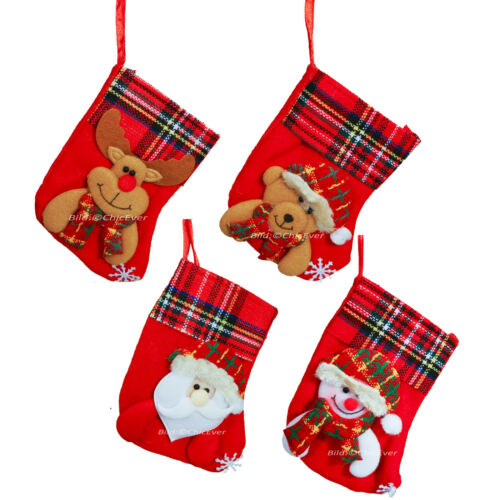 4 Weihnachtsstiefel Weihnachtssocke Filz 8x14cm Weihnachtsdeko Weihnachten 2998b