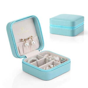 Flannel Jewelry Storage Case Travel Organizer Box For Earings Necklace Bracelets