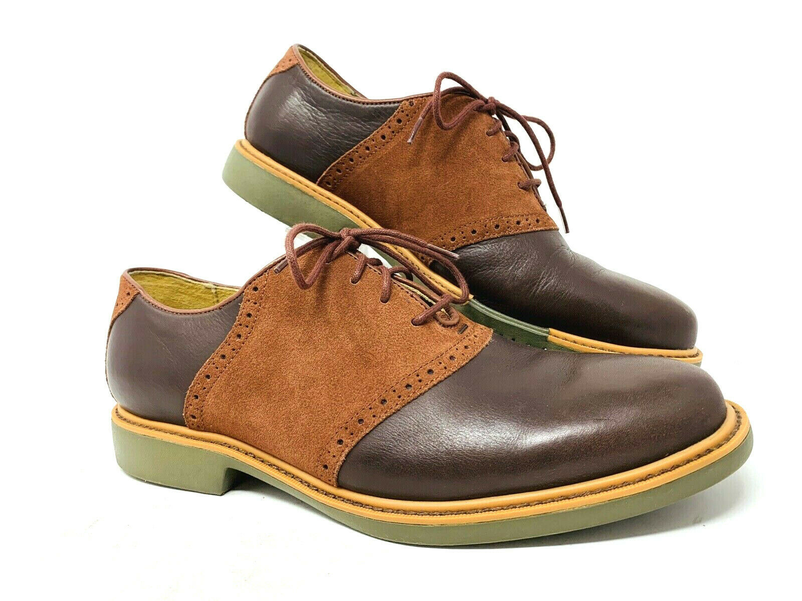Cole Haan Grand.OS 9M  Mens Marronee Nubuck Suede Leather Wing Tip Career Work scarpe  fabbrica diretta