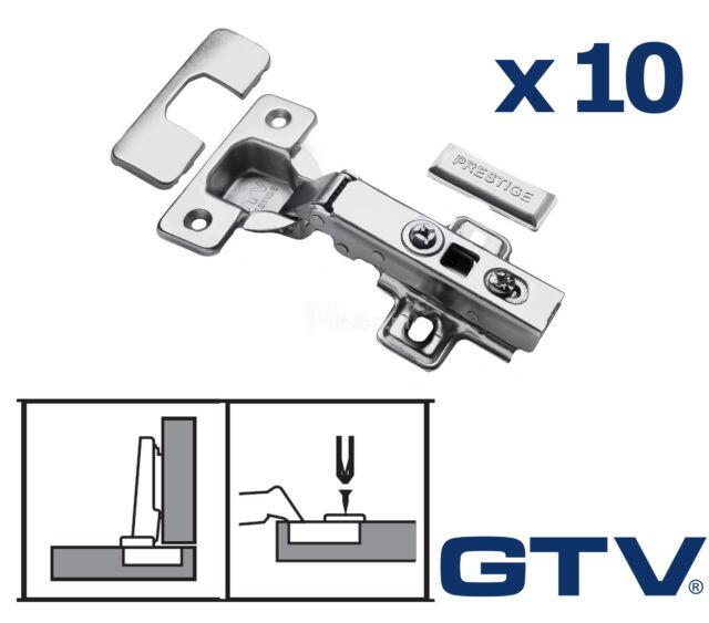 10x Soft Close 35mm Kitchen Hinge Hinges Cabinet Door Plate Screws /GTV